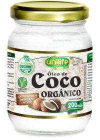 Óleo de Coco Orgânico Extra Virgem Unilife 200ml