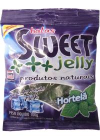 Balas de Algas Marinhas Sabor Hortelã Sweet Jelly 100g