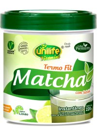 Matcha Termo Fit Instantâneo Sabor Limão Unilife 220g