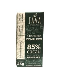 Chocolate Complexo 85% Cacau Intenso Java Chocolates 25g