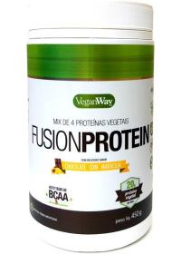 Fusion Protein Sabor Chocolate com Maracujá - Mix de Proteínas Vegetais - VeganWay 450g