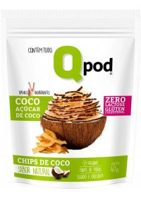 Chips de Coco Sabor Natural Qpod 40g