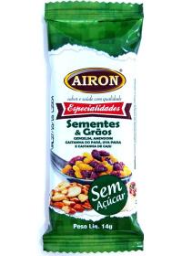 Barrinha Sementes e Grãos Sem Açúcar Airon 14g