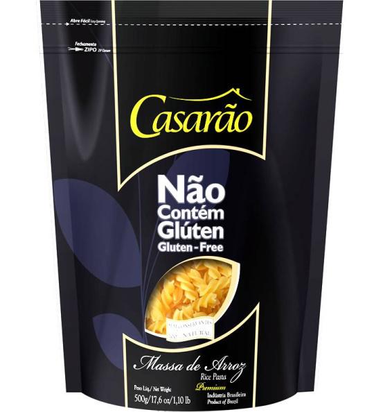 Massa de Arroz Premium Fusilli Casarão 500g