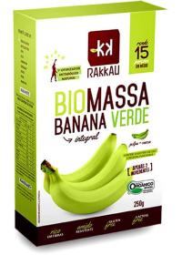 Biomassa Banana Verde Integral Orgânico Rakkau 250g