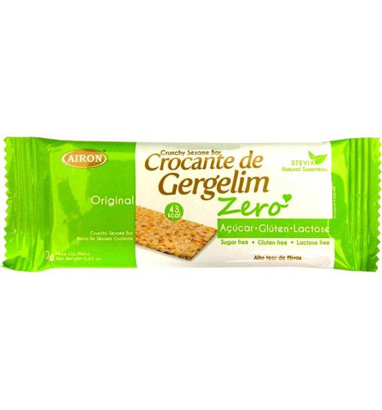Crocante de Gergelim Original Zero Açúcar Airon 10g