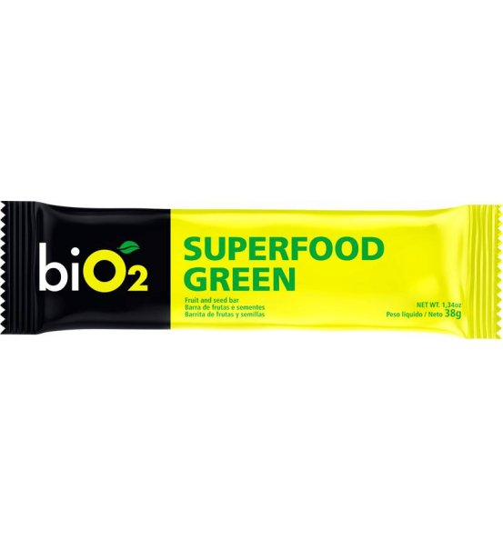 Barra Frutas e Sementes Superfood Green biO2 38g
