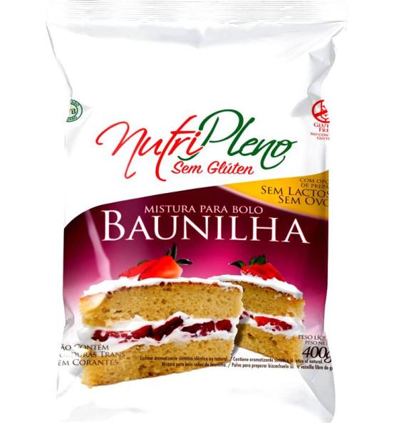 Mistura P/ Bolo Baunilha Sem Glúten Nutripleno 400g