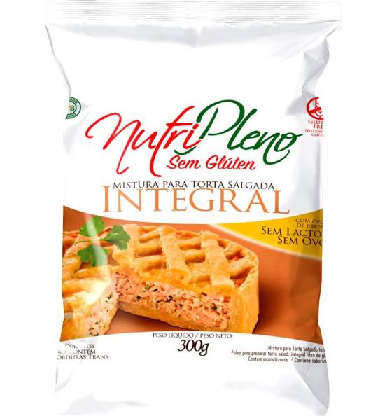 Mistura P/ Torta Salgada Integral Sem Glúten Nutripleno 300g