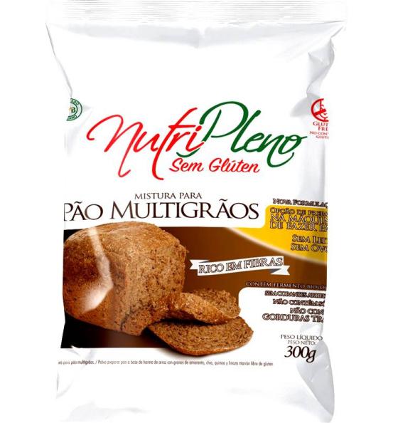 Mistura Sem Glúten para Pão Multigrãos Nutripleno 300g