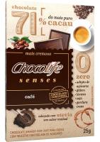 Chocolate 71% Cacau Sabor Café ChocoLife 25g