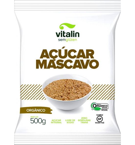Açúcar Mascavo Orgânico Vitalin 500g