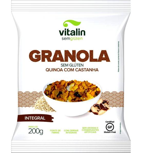 Granola Integral Sem Glúten Quinoa com Castanha Vitalin 200g