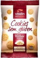 Cookie Sem Glúten Quinoa com Chocolate Branco Vitalin 90g