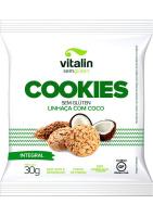 Cookie Sem Glúten Linhaça com Coco Vitalin 30g