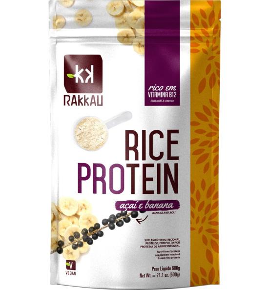 Rice Protein Sabor Açaí e Banana Rakkau 600g
