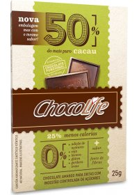 Chocolate 50% Cacau ChocoLife 25g