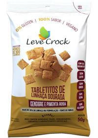 Tabletitos Linhaça Dourada Gengibre e Pimenta Rosa Leve Crock 50g