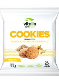 Cookie Sem Glúten Quinoa com Chocolate Branco Vitalin 30g
