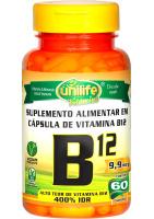 Vitamina B12 Cianocobalamina Unilife 60 Cápsulas de 450mg