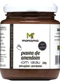 Pasta de Amendoim com Cacau Sem Açúcar Monama 200g