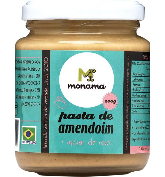 Pasta de Amendoim com Açúcar de Coco Monama 200g