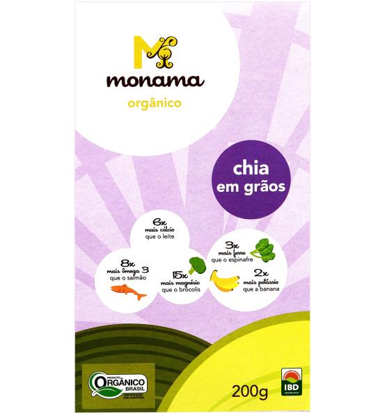 Chia em Grãos Orgânica Monama 200g