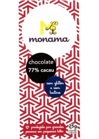 Chocolate 77% Cacau Monama 25g
