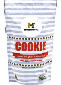 Cookie Orgânico Cacau, Canela e Proteína de Arroz Monama 120g