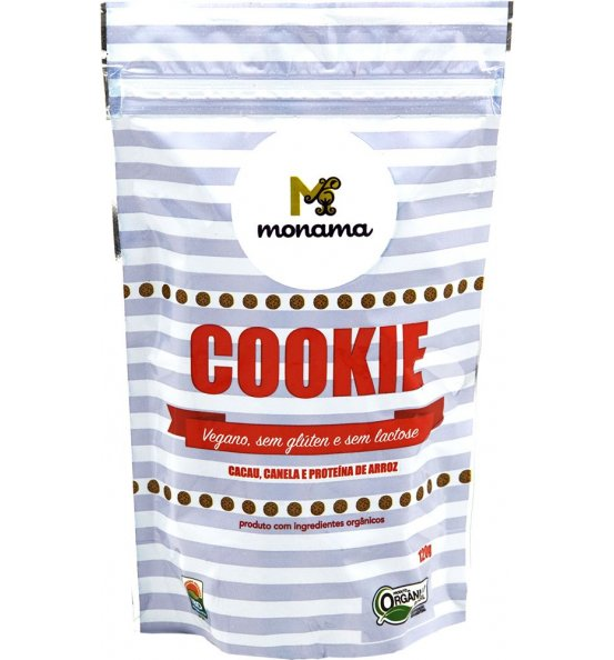 Cookie Orgânico Cacau, Canela e Proteína de Arroz Monama 90g