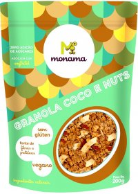 Granola Coco e Nuts Sem Glúten Monama 200g