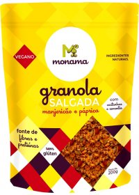Granola Salgada Manjericão e Páprica Sem Glúten Monama 200g