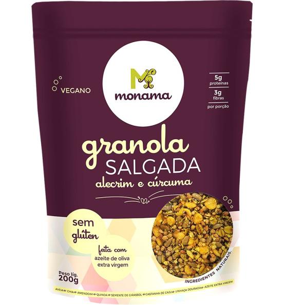Granola Salgada Alecrim e Cúrcuma Sem Glúten Monama 200g