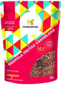 Granola Frutas Vermelhas Sem Glúten Monama 200g