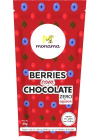 Snack Berries com Chocolate Sem Açúcar Monama 80g