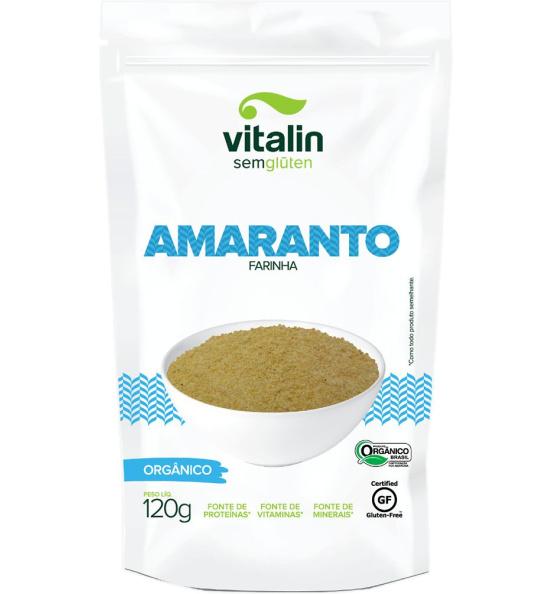Farinha Amaranto Orgânica Vitalin 120g