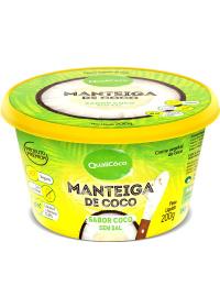 Manteiga de Coco Sabor Coco Sem Sal QualiCoco 200g