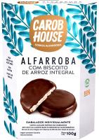 Alfarroba Biscoito de Arroz Integral Carob House 100g