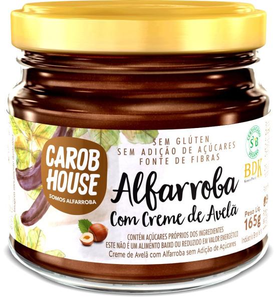 Alfarroba Creme de Avelã Carob House 165g