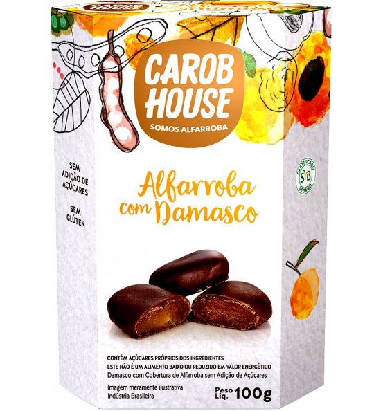Alfarroba com Damasco Carob House 100g