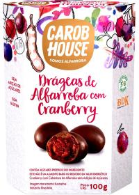 Alfarroba com Cranberry Carob House 100g