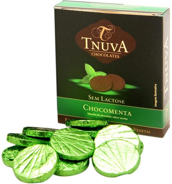 Moedas de Chocolate Sabor Menta Tnuva 50g