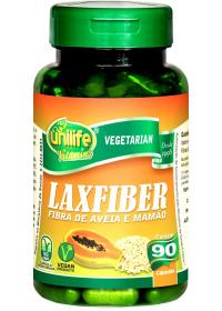 Laxfiber Fibra de Aveia e Mamão Unilife 90 cápsulas de 450mg