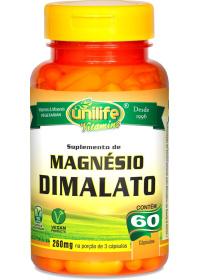 Magnésio Dimalato Unilife 60 cápsulas de 700mg