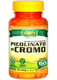 Picolinato de Cromo Unilife 60 cápsulas