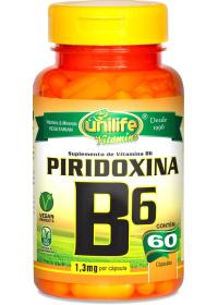 Vitamina B6 Piridoxina Unilife 60 cápsulas de 500mg