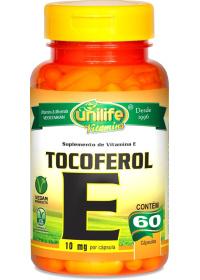 Vitamina E Tocoferol Unilife 60 cápsulas de 470mg