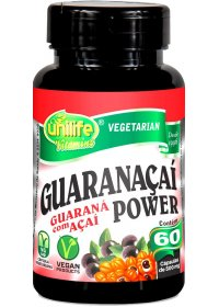 Guaranaçaí Power Guaraná Açaí Unilife 60 cápsulas de 500mg