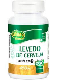 Levedo de Cerveja Unilife 200 comprimidos de 450mg