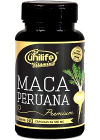 Maca Peruana Premium Unilife 60 cápsulas de 550mg